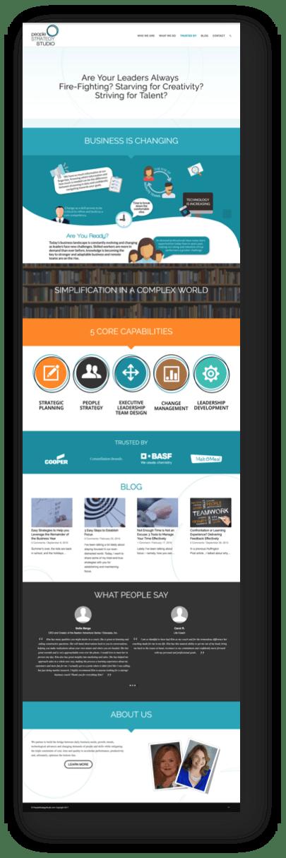 Corporate Consultant Website | Business Coach Website
