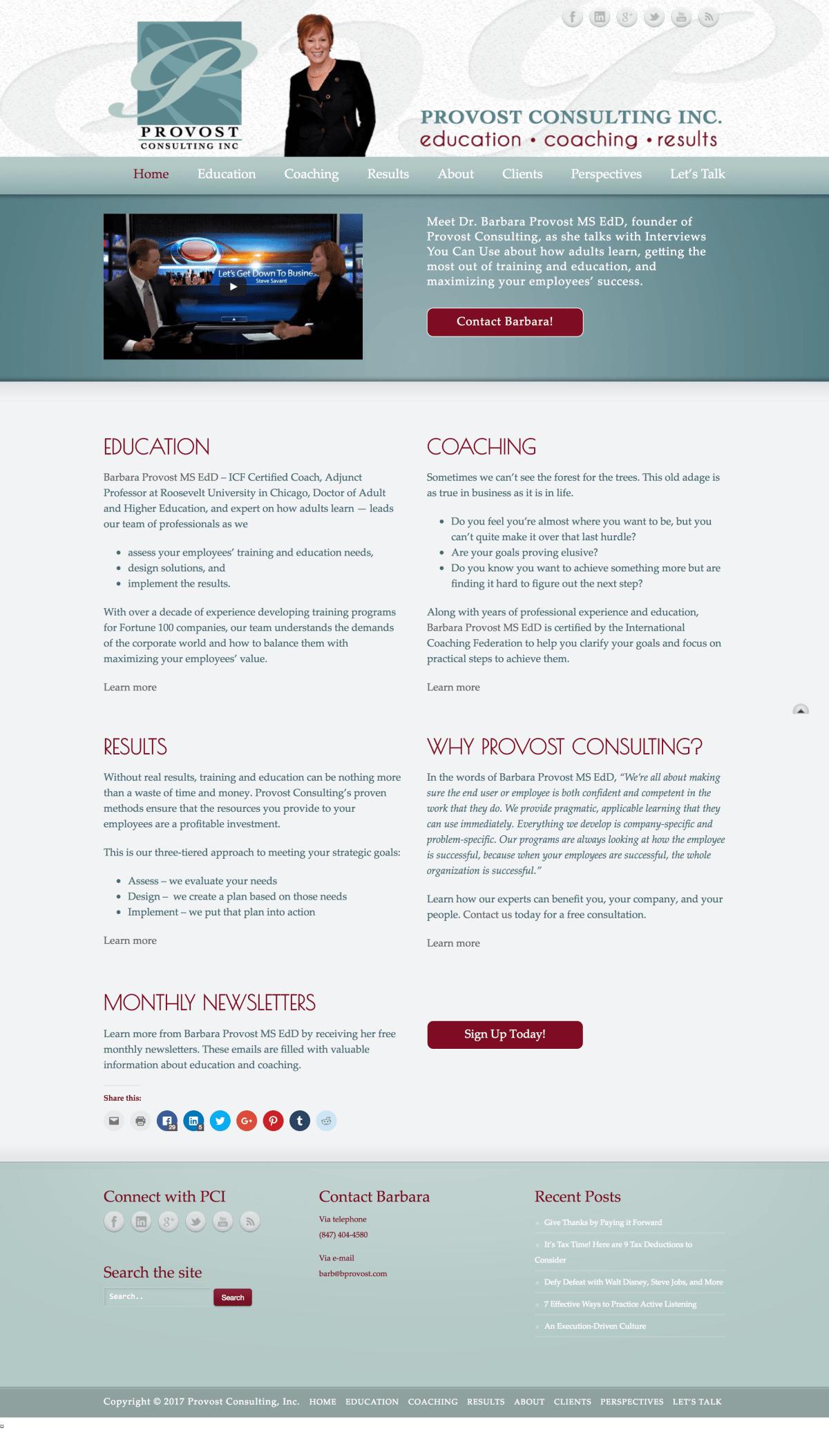 consultant website | consulting web design