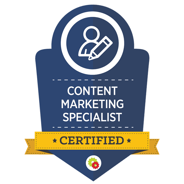 digital marketer content marketing specialist certified