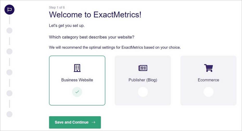 ExactMetrics - Setup