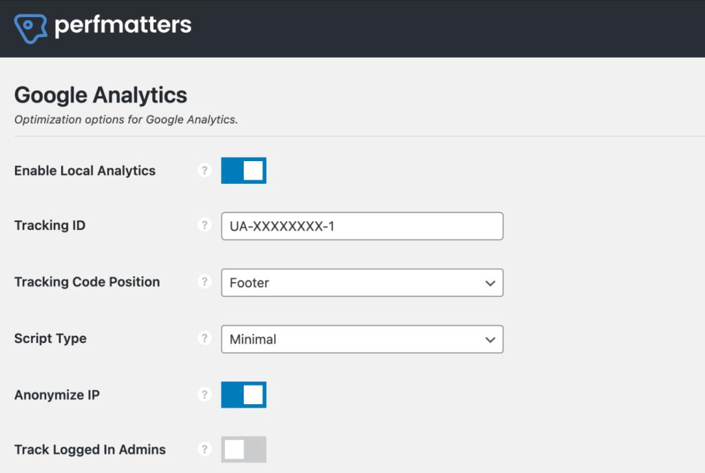 Perfmatters - Analytics