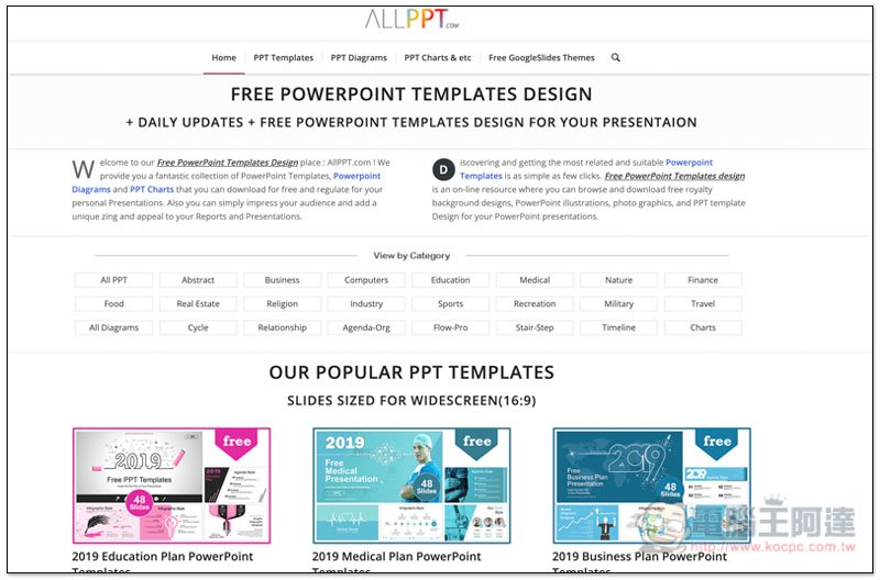 【PPT】ALLPPT免費PPT模板下載- 大量簡報範本版型一鍵下載   行銷人
