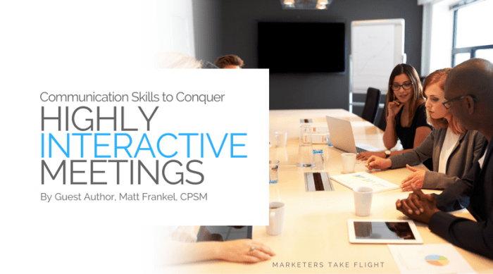 communication in highly-interactive-meetings