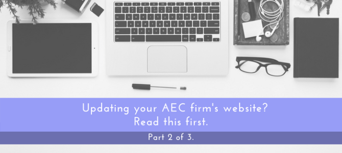 AEC Firm Website Update – Part #2