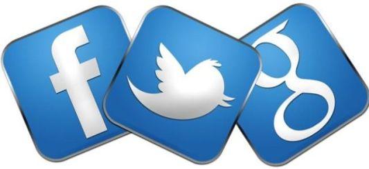 botones de redes sociales en web