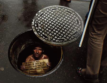 Amnestie International street marketing
