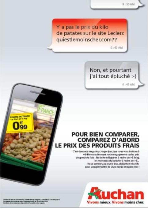 Campagne Auchan Mobile Leclerc
