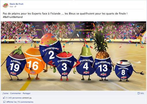 Oasis Facebook Handball