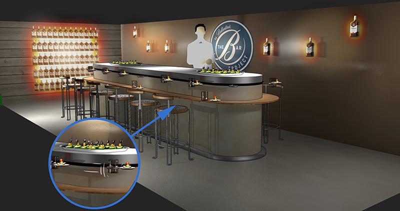 Le Bal des cocktails - Une nouvelle façon de déguster les cocktails sur une plateforme tournante