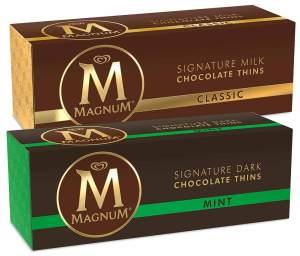 Disques de chocolat Magnum