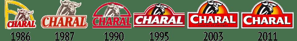 Succession des logos Charal depuis 1986
