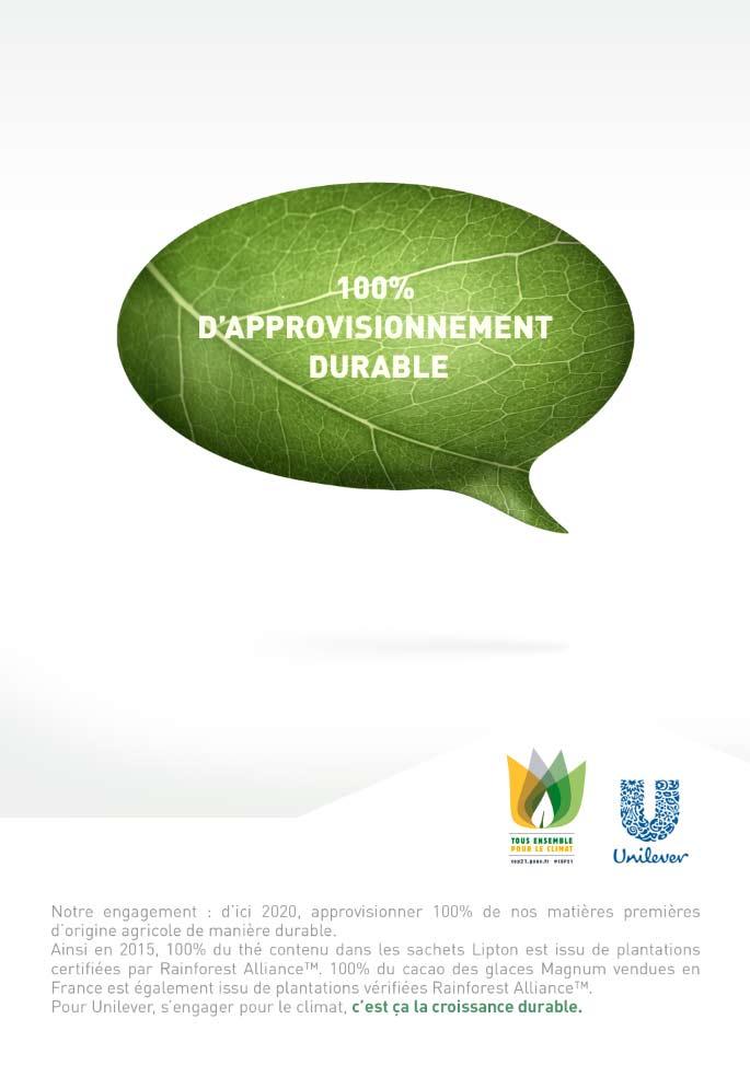 Unilever-Développement Durable COP21