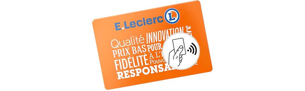carte de fidelite leclerc La carte de fidélité Leclerc embarque la NFC | MARKETING PGC