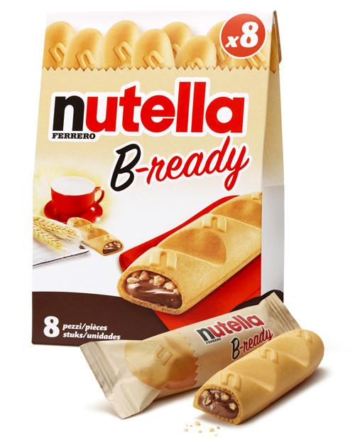 L'innovation B-ready signée Nutella est implantée au rayon biscuit et conseillé au prix de 2,10 € les 8 pièces.