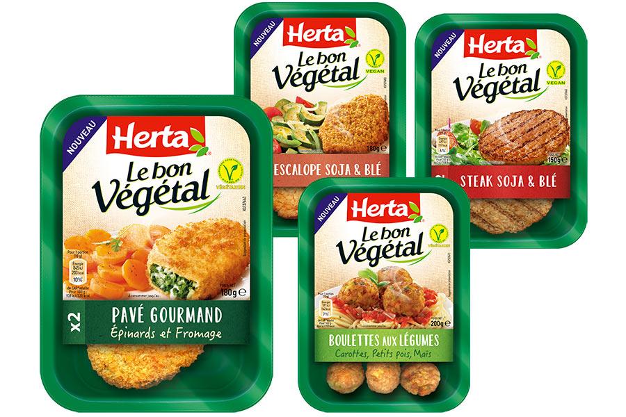 La nouvelle gamme de Herta compte 10 recette végétariennes.