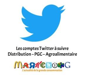 Les comptes Twitter à suivre : Distribution – PGC – Agroalimentaire