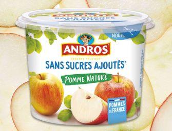 Nouveau pot Desserts Fruitiers éco-conçu d'Andros