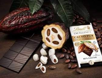 Cacao Pur, la nouvelle tablette 100% fruit du cacao de Lindt