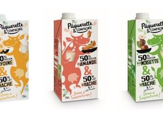 Pâquerette & Compagnie mixe lait de vache et végétal