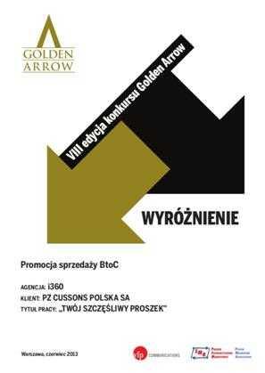 Wyróżnienie w VIII edycji Golden Arrow - Tomasz Makaruk