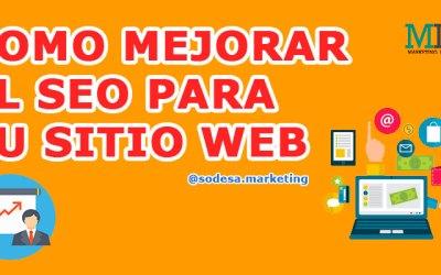 COMO MEJORAR EL SEO PARA MI SITIO WEB
