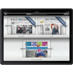 Axel Springer presenta una aplicación para el iPad