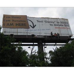 """Publicidad exterior para ayudar a los """"sin techo"""""""