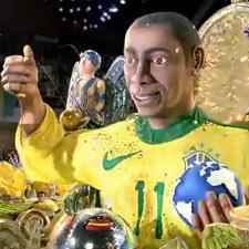 """Robinho también """"escribe el futuro"""" para Nike"""