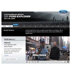 Facebook acoge la puesta de largo del nuevo Ford Explorer