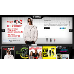Axe promociona su nueva línea de productos con cuatro conciertos sorpresa