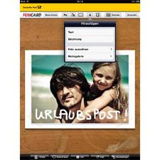 Enviar postales es también ahora posible a través del iPad