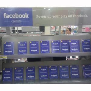 Facebook Credits a la venta en Walmart y Best Buy
