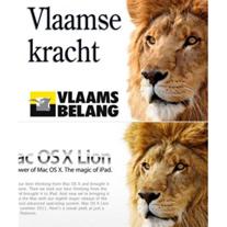 Apple utiliza en su publicidad el mismo león utilizado por la extrema derecha belga