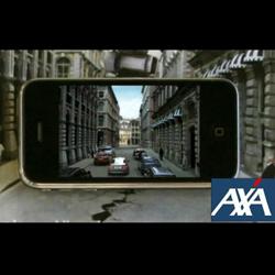 AXA promociona su aplicación iPhone con un iAd en periódicos y revistas