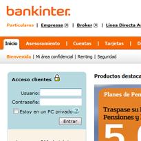 Bankinter renueva su web
