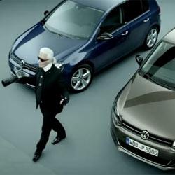Karl Lagerfeld debuta como imagen de Volkswagen en un glamouroso spot