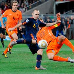 La prórroga de la final del Mundial de Fútbol, lo más visto en 2010