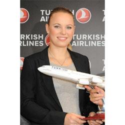 Caroline Wozniacki, la número uno del tenis mundial, ficha por Turkish Airlines