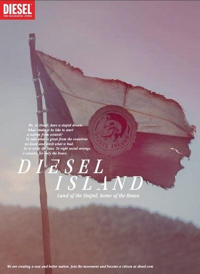 """Diesel emula a los protagonistas de la serie """"Perdidos"""" en su nueva campaña publicitaria"""