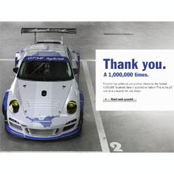 """Porsche """"tunea"""" un coche para festejar con sus fans su éxito en Facebook"""