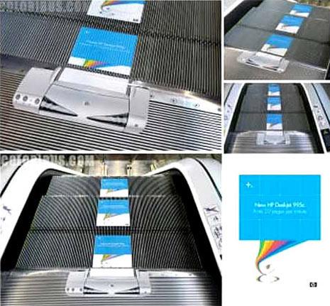 25 ejemplos creativos de publicidad en ascensores y escaleras mecánicas