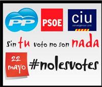 #nolesvotes, el hashtag que podría revolucionar los comicios del 22-M