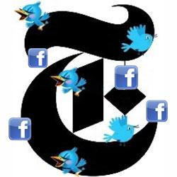 """¿Cómo utiliza """"The New York Times"""" Twitter y Facebook?"""