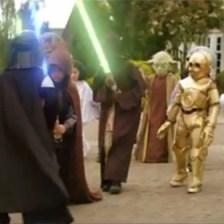 Greenpeace contraataca a Volkswagen con una invasión de Jedis