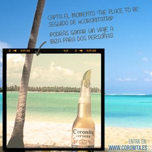 Coronita Cerveza regala un viaje a Ibiza a través de un concurso en Instagram