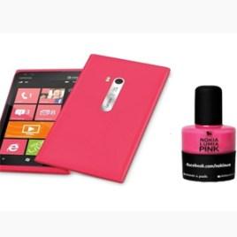 Nokia se lanza al mercado de los esmaltes de uñas para impulsar las ventas de su Lumia 900 en rosa chicle