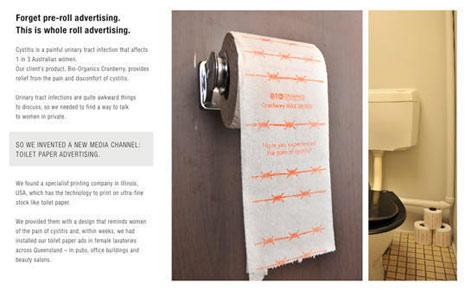 Adiós publicidad pre-roll, hola publicidad… ¡en los rollos de papel higiénico!