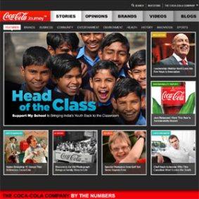 Coca-Cola rediseña su web corporativa y le da aires de revista