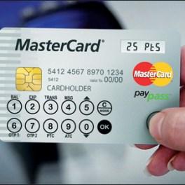 MasterCard lanza una tarjeta futurista con pantalla LCD y botones sensibles al tacto