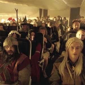 La aerolínea Air New Zealand fleta un vuelo a la Tierra Media con hobbits y elfos a bordo